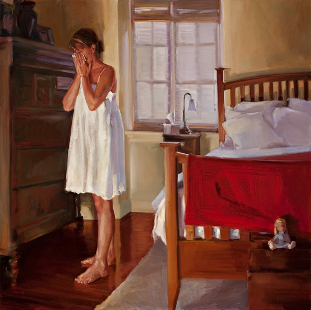 Dagmar Cyrulla A Moment (2009) oil on linen, 92 x 92 cm