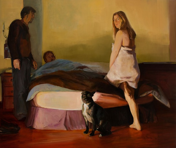 Dagmar Cyrulla Judged (2008), oil on linen, 206 x 245cm. Tweed River Art Gallery Collection, NSW, Australia