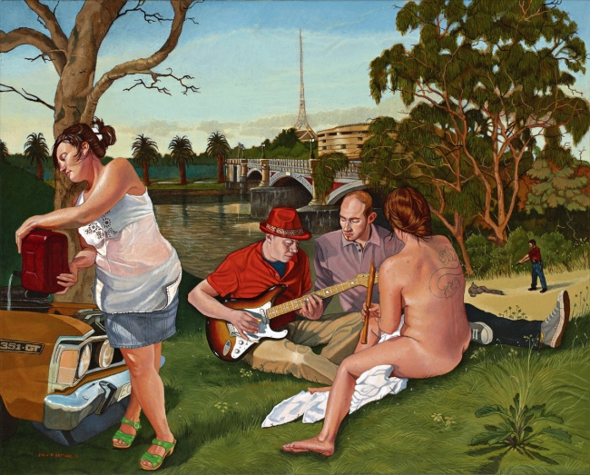 Eolo Paul Bottaro, Joyride - city jam, 2012, oil, egg tempera on linen