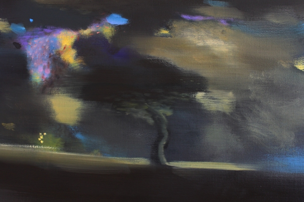 John Sheehan Suburban Nocturne, detail (2012) oil on linen, 140 x 200 cm