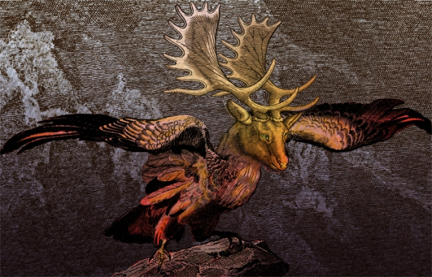 Milan Milojevic, Peryton (after Audubon) (2009) digital print, edition of 10, 81 x 127 cm