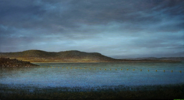 Adam Nudelman, Little pine lake (2012), oil on canvas, 61 x 112 cm