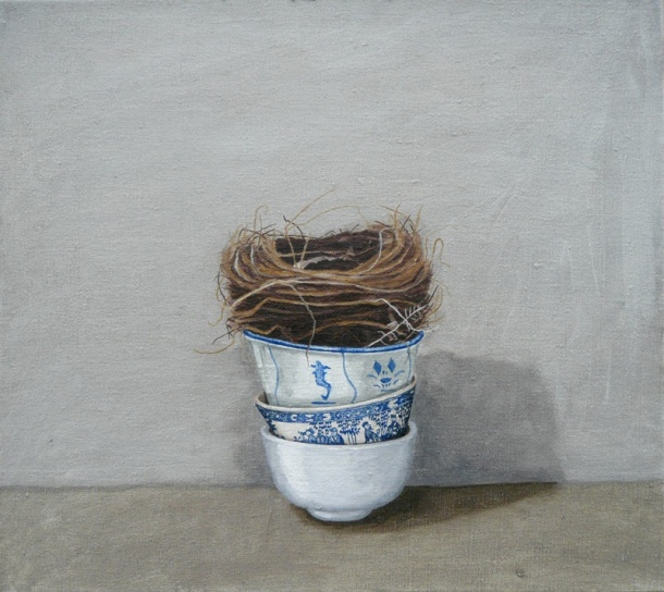 Karen Gray, Stacked (2008) oil on canvas.