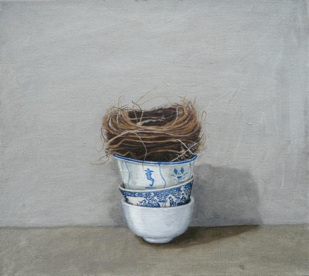 Karen Gray, Stacked (2008) oil on canvas.