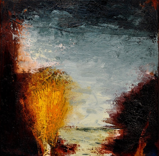 Ian Parry, After Monticelli (2011), oil on linen, 30 x 30 cm