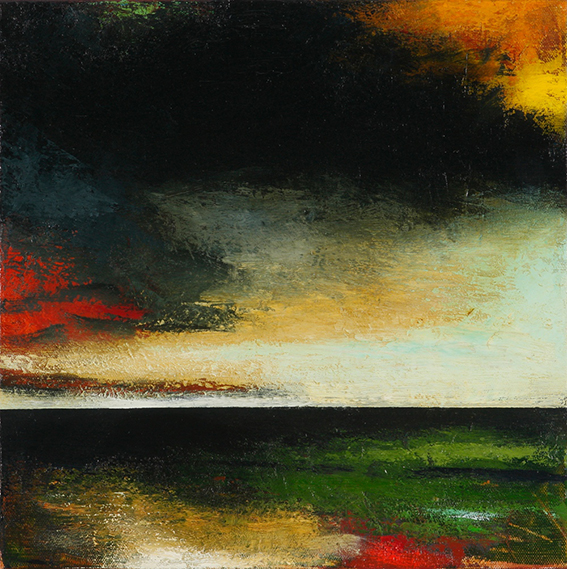 Ian Parry, Cirrostratus (2011), oil on linen, 35.5 x 35.5 cm