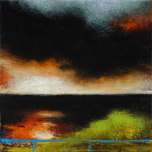 Ian Parry, Hillock (2011), oil on linen, 30 x 30 cm
