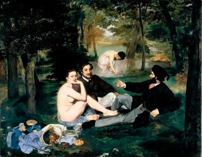 Edouard Manet, Le Déjeuner sur l'herbe, 1863, oil on canvas, 208 x 264.5 cm. Musee d'Orsay website.