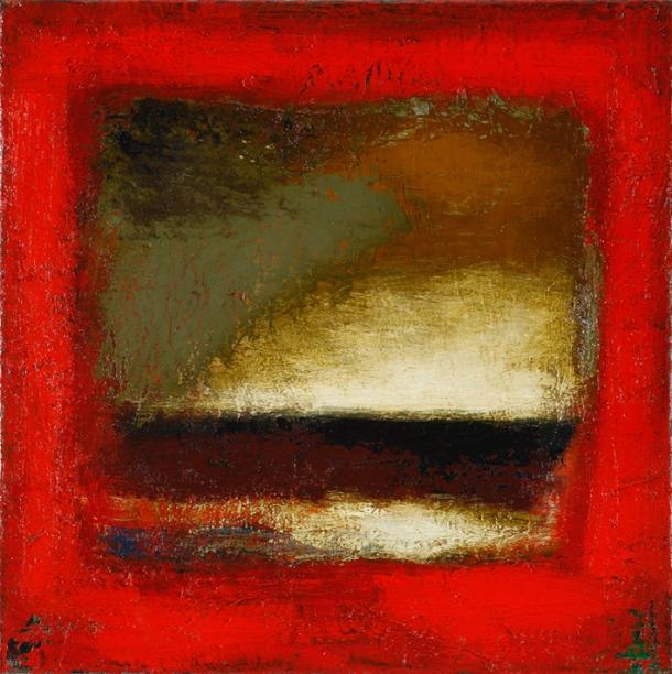 Ian Parry, Window - Portside (2011) oil on linen, 41 x 41cm