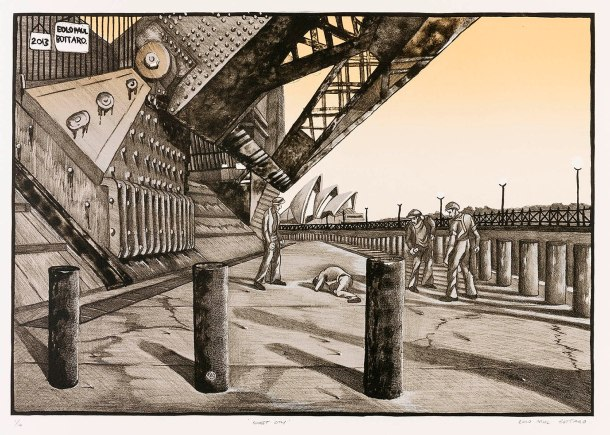 EOLO PAUL BOTTAROSunset City, lithograph web