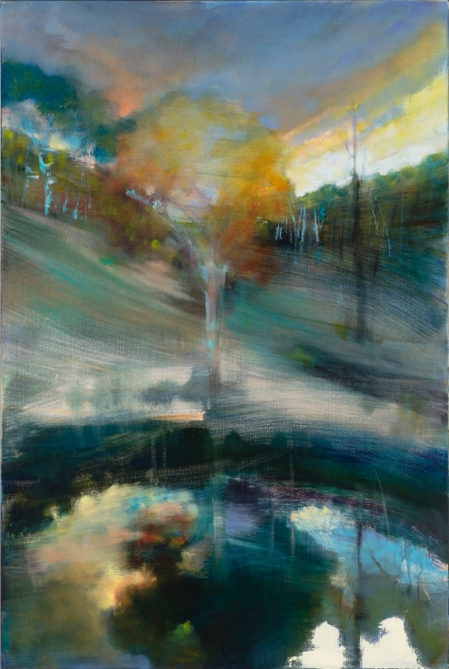 Susan Baird, Golden Glow 2013, oil on linen, 153 x 102cm