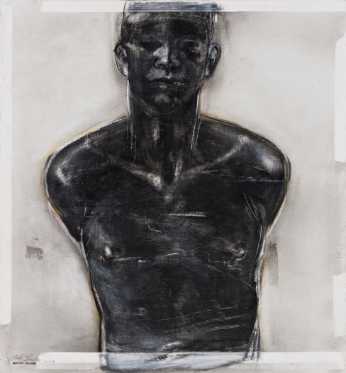 Godwin Bradbeer, Ecce Homo 2010, chinagraph, pastel dust, silver oxide on paper, 105 x 80 cm