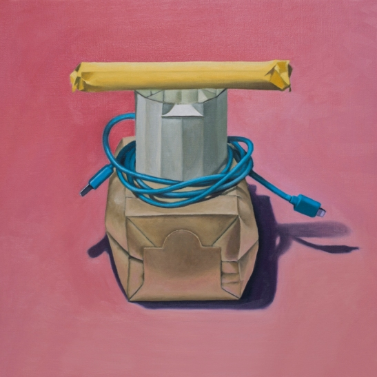 CASSANDRA RIJS French Bow (2014) oil on linen, 60 x 60cm