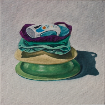 CASSANDRA RIJS Made Up (2013) oil on linen, 25 x 25cm