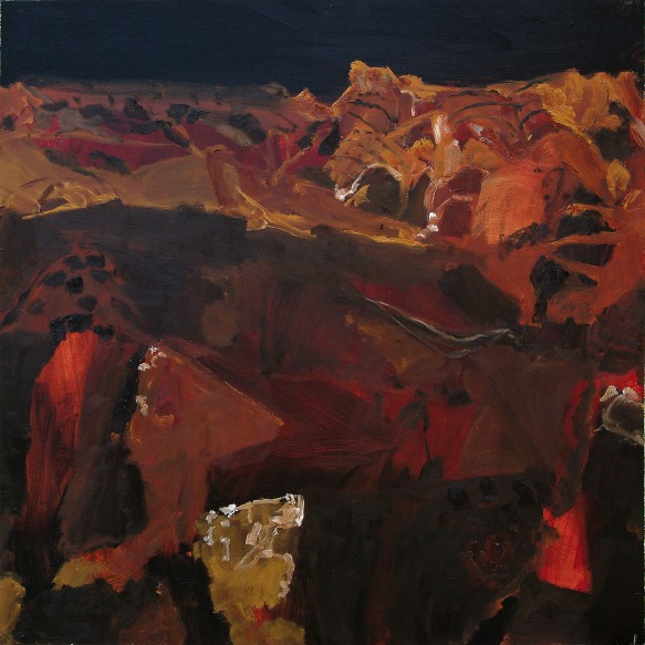 Luke Sciberras, Evening After Glow NT, 2010, oil on board, 120 x 120 cm