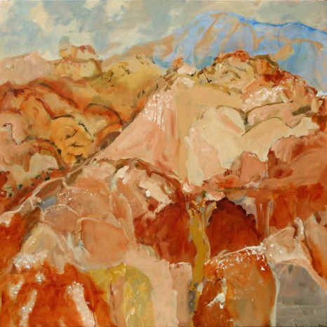 Luke Sciberras, Fowlers Gap, 2010, oil on board, 120 x 120cm