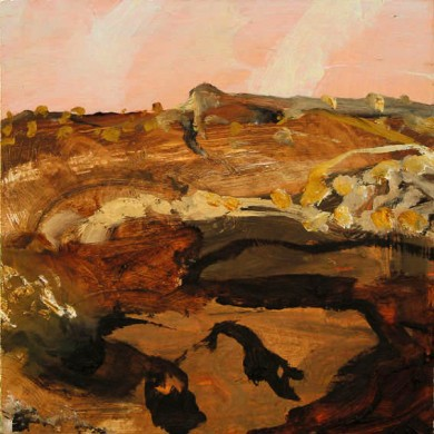 Luke Sciberras, Ross Highway - NT, 2010, oil on board, 32 x 30 cm