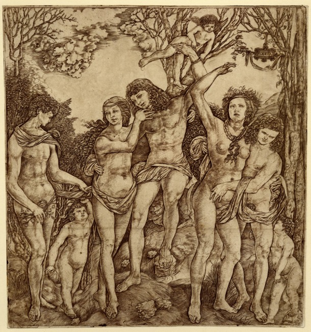 Cristofano Robetta, Allegory of Carnal Love (after 1535) engraving, 302 x 287 mm. Museum Number 1895.0915,85. Bibliography: Hind D.II.29 ; Bartsch XIII.406.25 ; TIB 25.2521.043. To view this print on the British Museum Collection Online click here.  © The Trustees of the British Museum