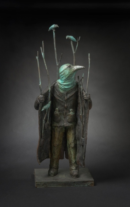 Jon Eiseman, Sanctuary 2014, unique bronze, 67cm x 24cm x 18cm