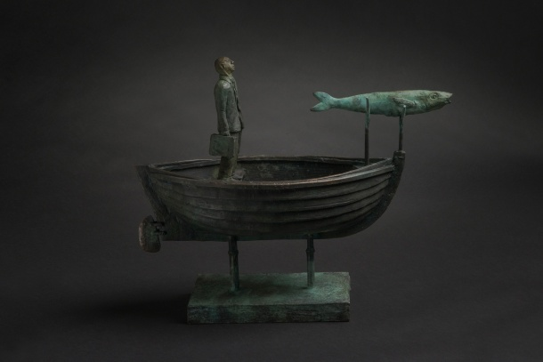 Jon Eiseman, Brother Fish, 2014, unique bronze, 36cm x 49cm x 19 cm