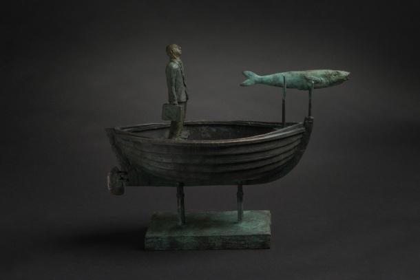 Jon Eiseman, Brother Fish, 2014, unique bronze, 36cm x 49cm x 19 cm