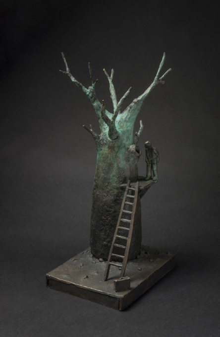 Jon Eiseman, Seeking Wisdom 2014, unique bronze, 38cm x 20cm x 14 cm