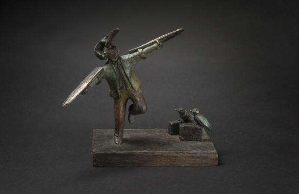Jon Eiseman, Talking To Angels 2014, unique bronze, 23cm x 27cm x 17 cm