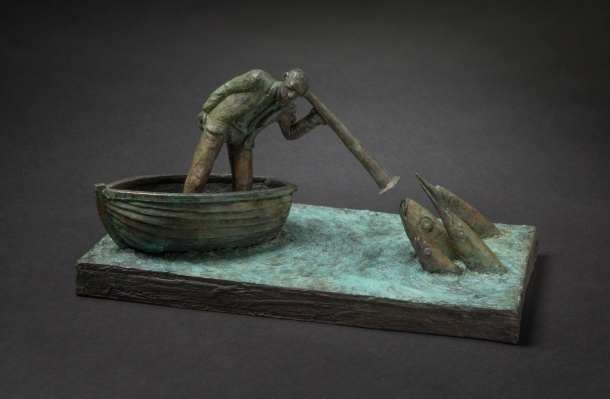 Jon Eiseman, The Mariners Dream 2014, unique bronze, 18cm x 36cm x 19 cm