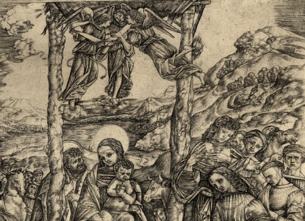 Cristofano Robetta, Adoration of the Magi, After Filippino Lippi, detail (c. 1510 – 15) engraving, 303 x 280 mm. Museum Number 1842.0806, 33. Bibliography: Hind D.II.10 ; Bartsch XIII.396.6 ; TIB 25.2521.010. To view this print on the British Museum Collection Online click here. © The Trustees of the British Museum
