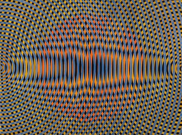 John Aslanidis, Sonic no. 40, 2013, oil and acrylic on canvas, 97 x 102 cm