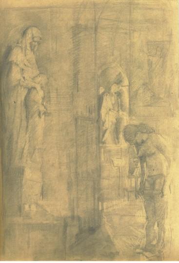 Dagmar Cyrulla Influence I, 2014, pencil on paper, 28 x 19 cm