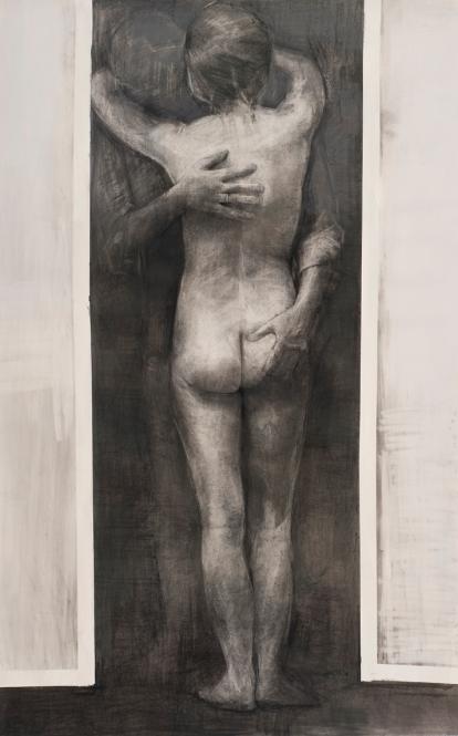 Dagmar Cyrulla, Memory of Passion II, 2014 charcoal on paper, 162 x 102 cm