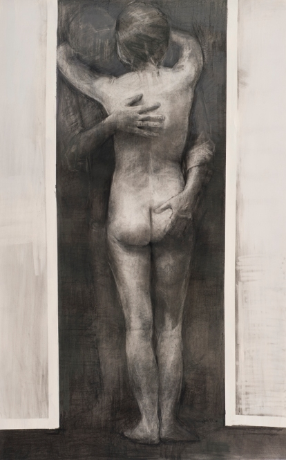 Dagmar Cyrulla, Memory of Passion II, 2014 charcoal on paper, 162 x 102 cm