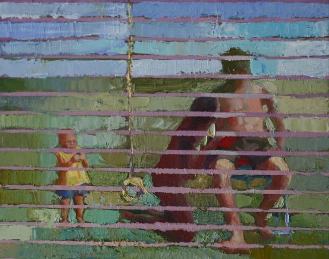 Dagmar Cyrulla Privacy of my Backyard, 2014, oil on linen, 31 x 40 cm