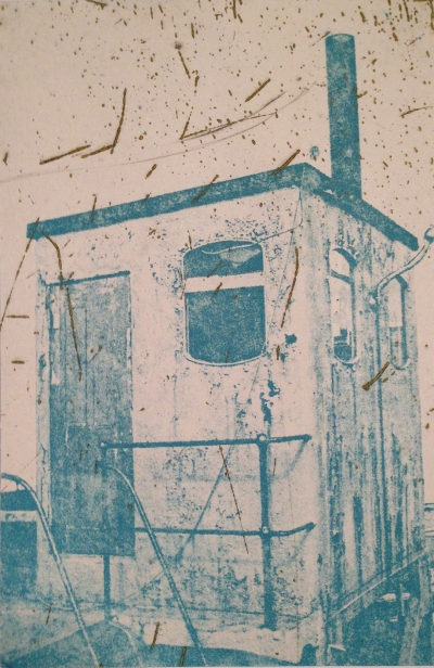 Johnny Bugler, Outpost, 2014, photo-etching, 15 x 10 cm. Cork Printmakers, Cork.