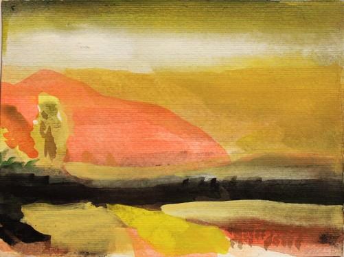 John Sheehan, Hong Jec Soi II, 2011, watercolour, 15 x 20cm (Thailand 2010/11 series)