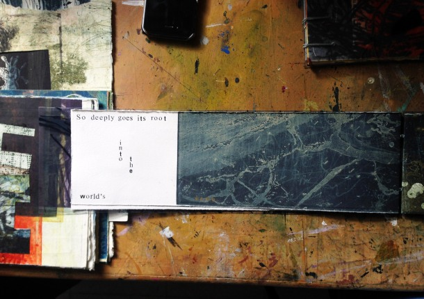 Artist Books by Bronwyn Rees in her studio.