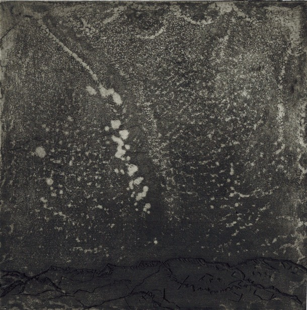 Jill O'Sullivan, Starry Night - Outback North-West Queensland, 2015, etching with spirit aquatint, 15 x 15 cm