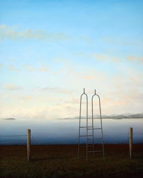 Adam Nudelman, If it all should fall tomorrow, 2015, oil on linen, 120 x 96.5cm