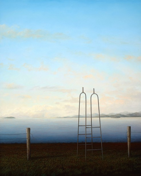 Adam Nudelman, If it all should fall tomorrow, 2015, oil on linen, 120 x 96.5cm