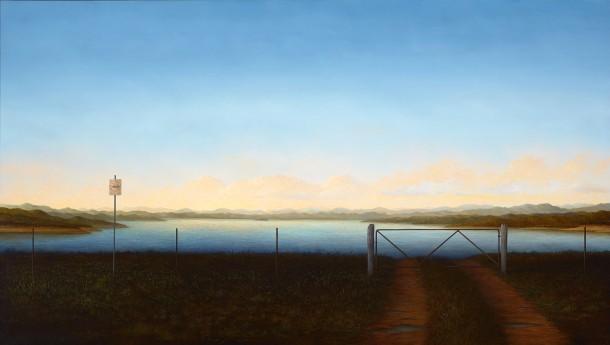 Adam Nudelman, It's a denial who would refuse, 2015, oil on linen, 141 x 250 cm