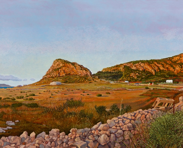 Eolo Paul Bottaro, Warm wind coming from the west - Favignana, 2016, oil and egg tempera on linen.