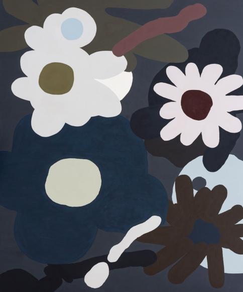 Kirra Jamison, Aster 5, 2016, acrylic on polyester 185.0 x 153.0 cm