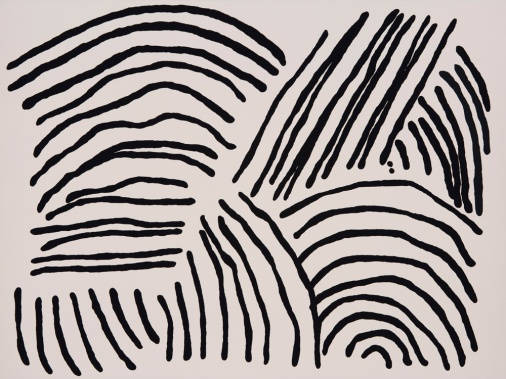 Kirra Jamison, Mono 1, 2016, gouache on paper, 56.0 x 76.0 cm