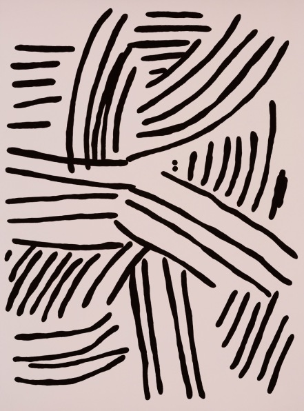 Kirra Jamison, Mono 2, 2016 gouache on paper, 76.0 x 56.0 cm