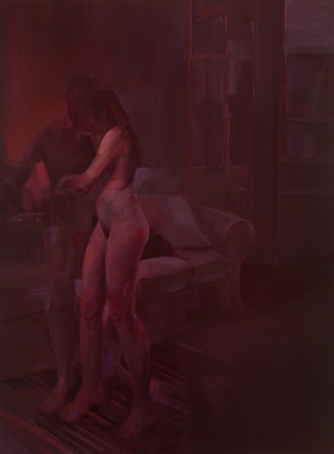 Dagmar Cyrulla, Amour IV, 2016, oil on linen, 122 x 91 cm