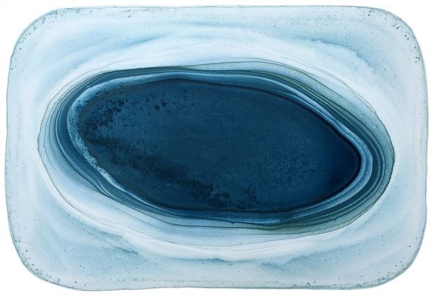 Carmel Wallace, Mapping the Waters, series 2 #11, 2006, watercolour monotype on paper, 76 x 110 cm