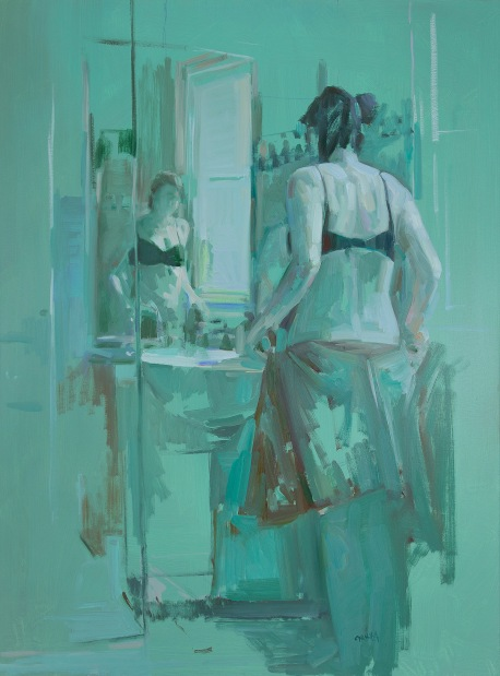 Dagmar Cyrulla, Doing What a Girl Has To 3, 2016, oil on linen, 122 x 91 cm