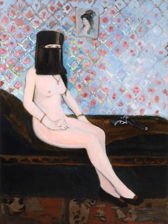 Gaia Shead, REGARDEZ-VOUS, 2016, Oil on polyester canvas, 122x92cm